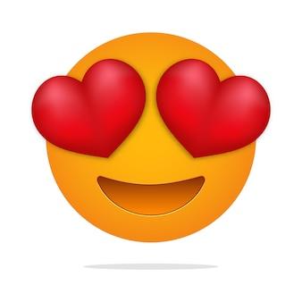 Amor emoji corazón ojos cara.