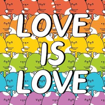 El amor es el lema de la cita del amor