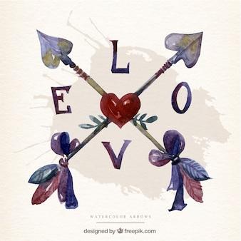 Amor flechas cruzadas