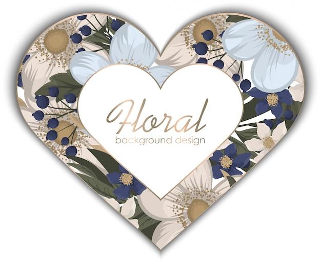 Amor flor marco día de san valentín