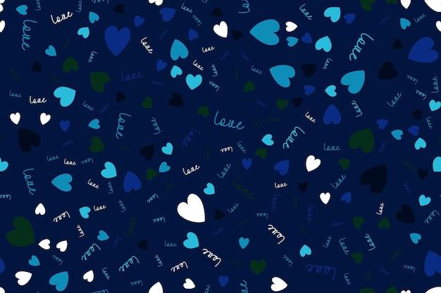 Amor de fondo transparente con corazones. ilustración vectorial eps10