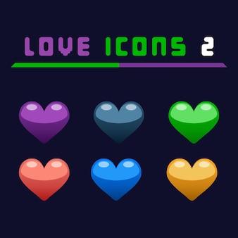 Amor íconos 2 juego activo