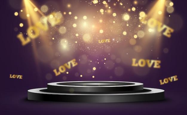 Amor palabra hermosa brillante.