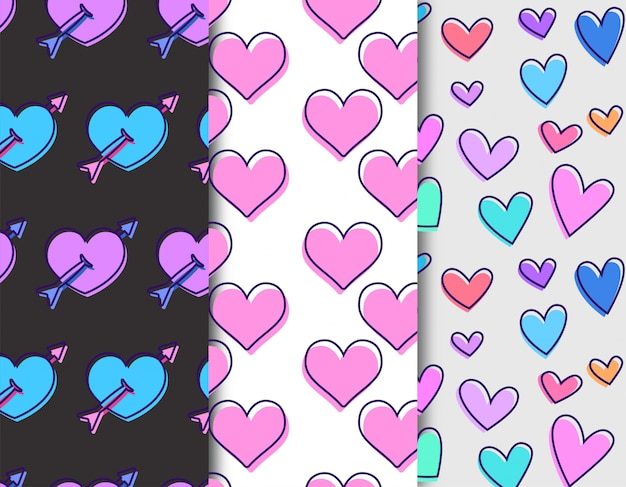 Amor patrón de corazón