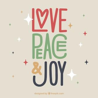 Amor, paz y alegría