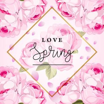 Amor primavera vector de fondo