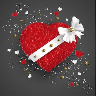 Amor en rojo hay una cinta blanca