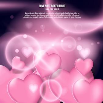 Amor suave efecto de luz bokeh
