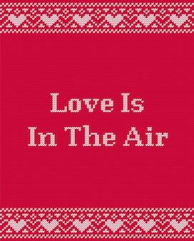 El amor está en la tarjeta de felicitación del aire para el día de san valentín