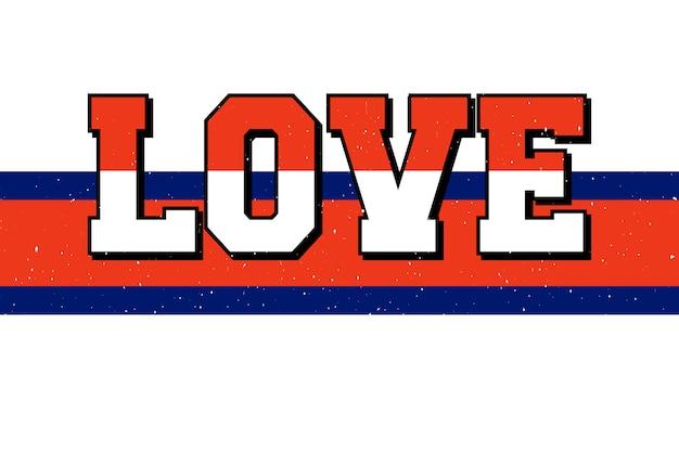 Amor tipografía eslogan dibujo moderno lema de moda