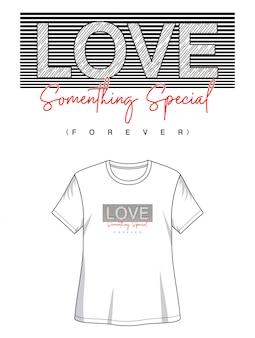 Amor tipografía para imprimir camiseta