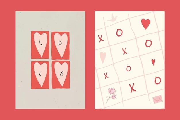 Amor en todas partes conjunto de carteles de plantillas editables
