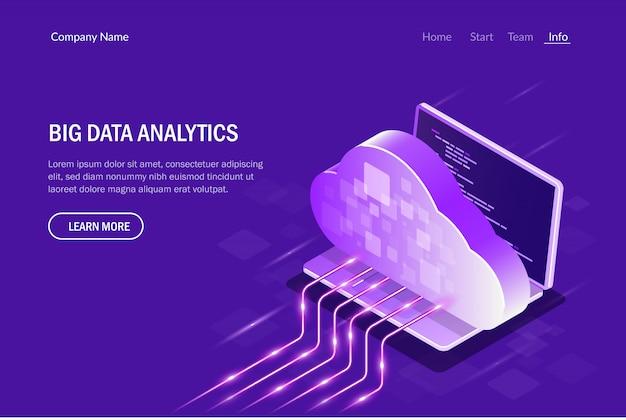 Análisis de big data. computación en la nube. transmisión de datos.
