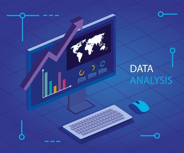 Análisis de datos con computadora e infografía