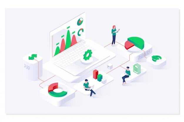 Análisis de datos y estadísticas isométricas