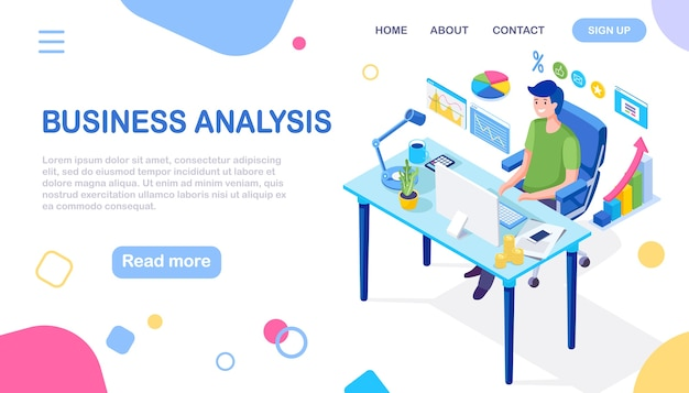 Análisis de datos informes financieros digitales seo marketing desarrollo de la gestión empresarial