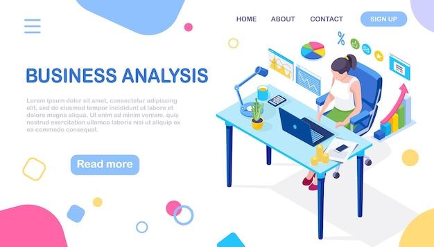 Análisis de los datos. informes financieros digitales, seo, marketing. gestión empresarial, desarrollo