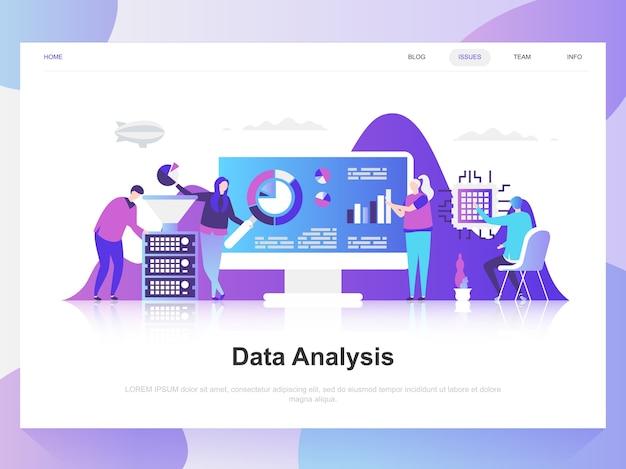 Análisis de datos moderno concepto de diseño plano.