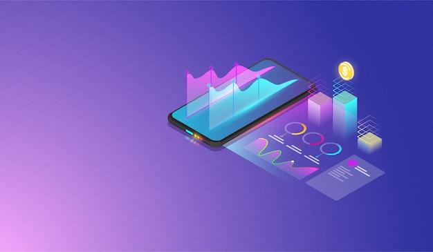 Análisis de datos móviles y concepto de progreso.