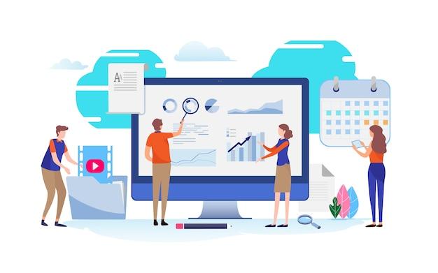 Análisis de los datos. plan de planes de negocios.