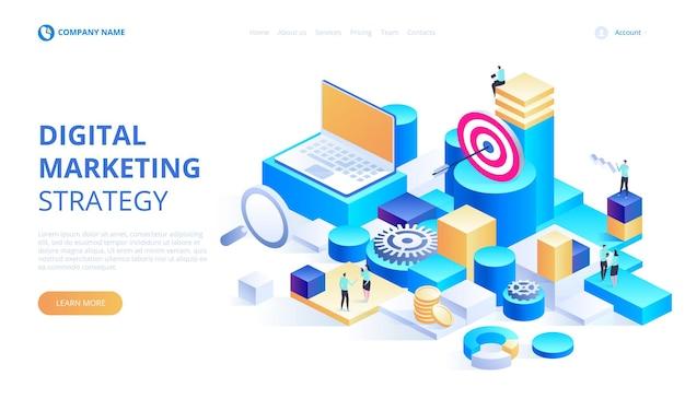 Análisis empresarial, estrategia de contenido y concepto de gestión.