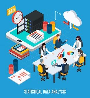 Análisis estadístico de datos isométrico