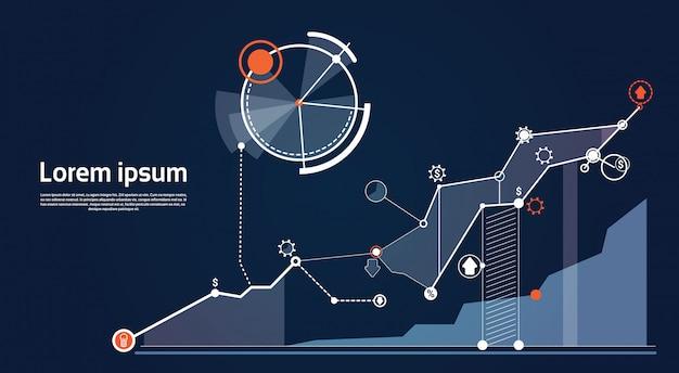 Análisis financiero gráfico gráfico de negocio financiero