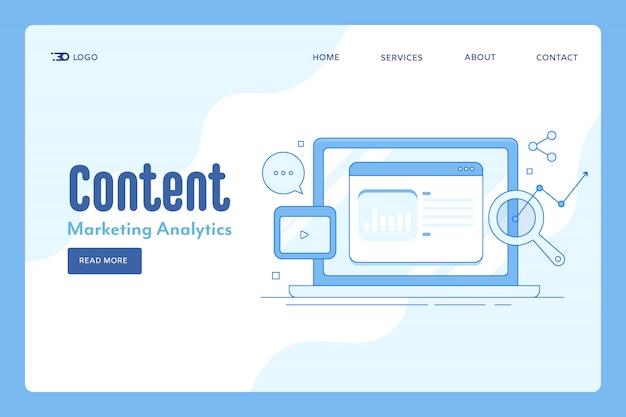 Análisis de marketing de contenidos.