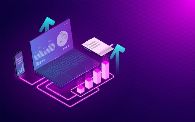 Análisis de marketing y diseño de concepto de desarrollo de software.