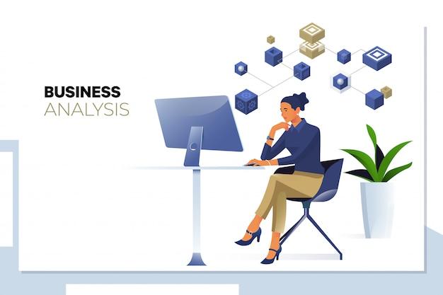 Análisis de negocios, análisis de datos.