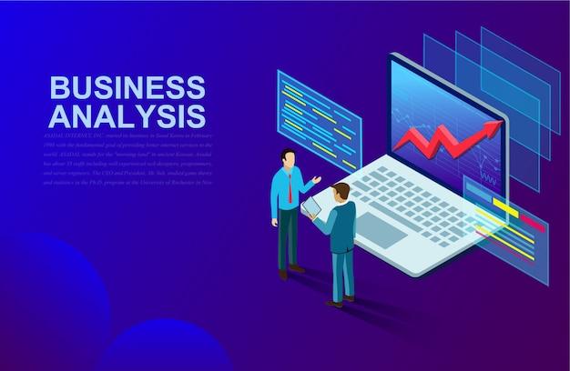 Análisis de negocios y comunicación de marketing contemporáneo y software para el desarrollo.