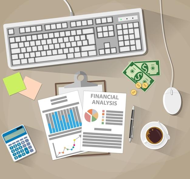 Análisis y planificación de negocios, informe financiero.