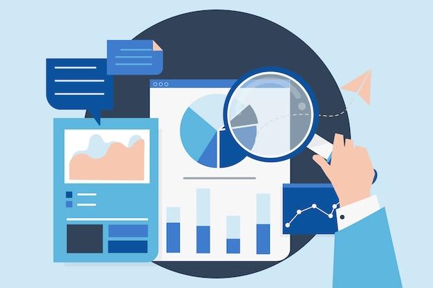 Análisis del rendimiento empresarial con gráficos.