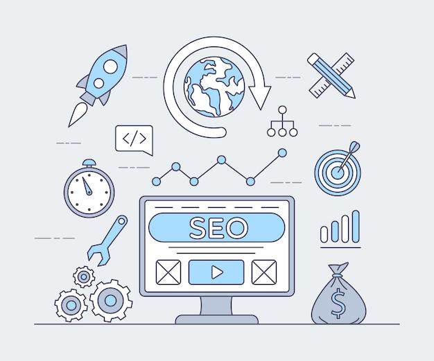 Análisis web, programación e ilustración de aplicaciones comerciales.