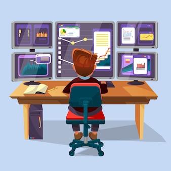 Analista financiero lugar de trabajo