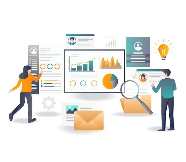 Analizar datos de correo electrónico y optimización seo