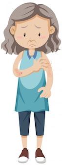 Anciana con erupción cutánea