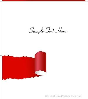 Andrajosa bandera de papel de tarjetas de felicitación