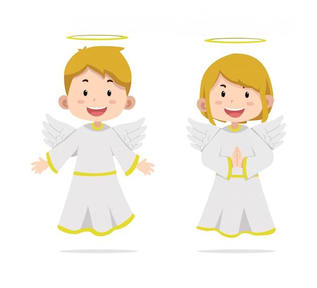 Angel de personajes de niños lindos