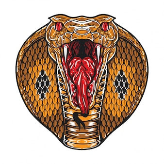 Angry king cobra face