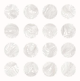 Anillo de árbol con arte lineal