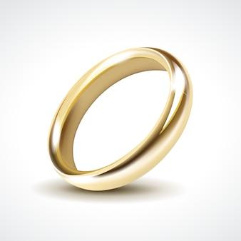 Anillo de bodas de oro aislado