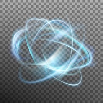 Anillo brillante abstracto sobre fondo transparente.