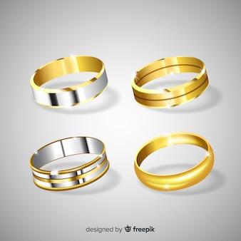 Anillos de boda realistas