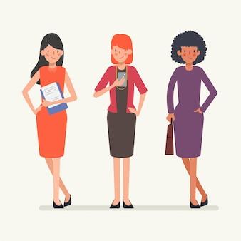 Animación escena gente de negocios trabajo en equipo carácter.