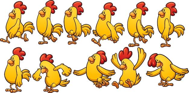 Animación de pollo