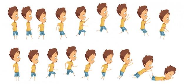 Animación con secuencia de cuadros al saltar corriendo.