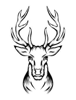 La animación del tatuaje querido con la cabeza única.