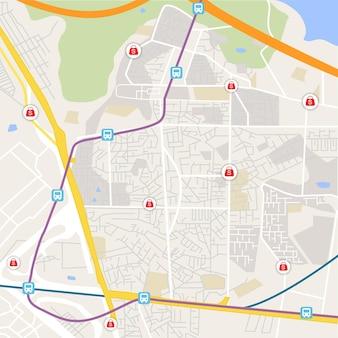 Animaciones de navegación de la aplicación hay un destino para llegar al mapa gps de destino