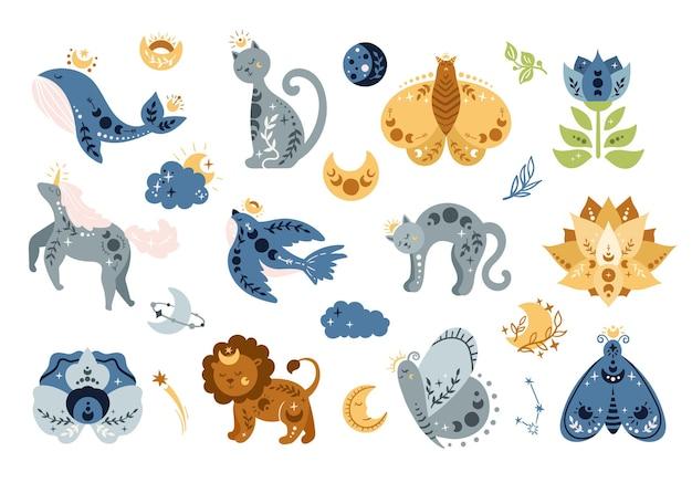 Animales celestiales boho